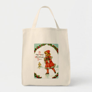 Iceskating child tote bag