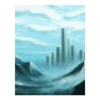 iceworld fantasy landscape customized letterhead