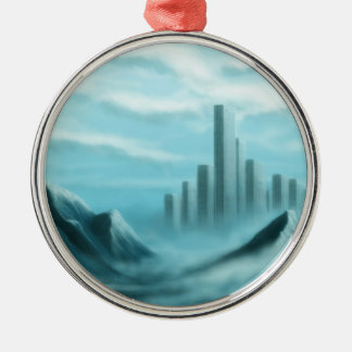 iceworld fantasy landscape metal ornament