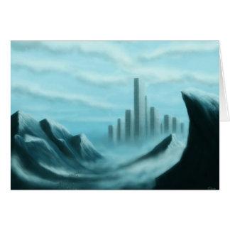 iceworld scifi/fantasy art notecard