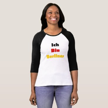 astroskins Ich Bin Berliner I am Berlin - German Quote T-Shirt