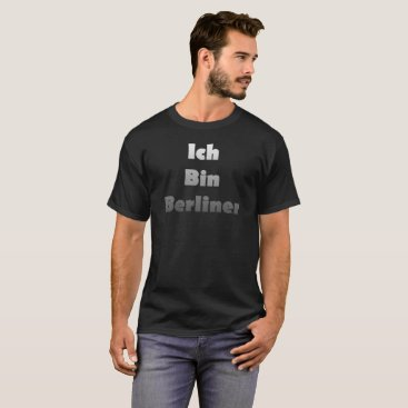 astroskins Ich Bin Berliner I am Berlin - White Fade Text T-Shirt