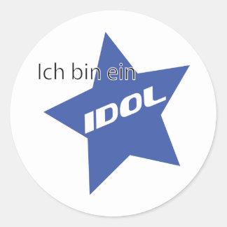 Ich bin ein Idol icon Classic Round Sticker