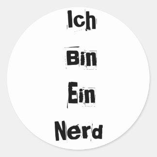Ich Bin Ein Nerd Classic Round Sticker