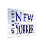 """""""ich bin ein New Yorker"""" Canvas Print"""