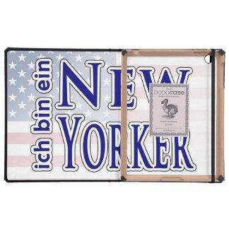 """""""ich bin ein New Yorker"""" iPad Folio Cases"""