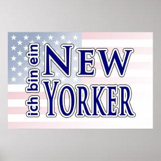 """""""ich bin ein New Yorker"""" Poster"""