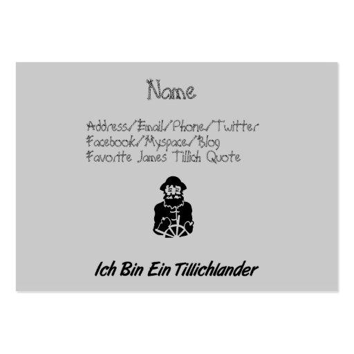 Ich Bin Ein Tillichlander Business Card