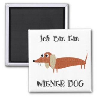 Ich Bin Ein Wiener Dog I Am A Dachshund 2 Inch Square Magnet