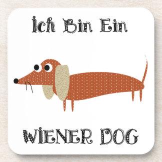 Ich Bin Ein Wiener Dog I Am A Dachshund Coaster