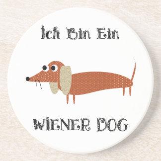 Ich Bin Ein Wiener Dog I Am A Dachshund Drink Coaster