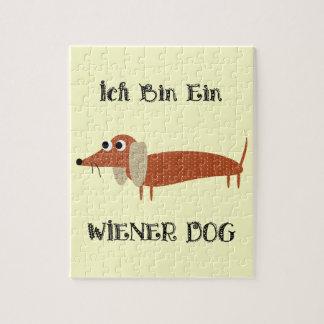Ich Bin Ein Wiener Dog I Am A Dachshund Jigsaw Puzzle
