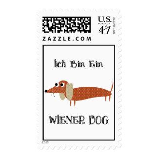 Ich Bin Ein Wiener Dog I Am A Dachshund Postage