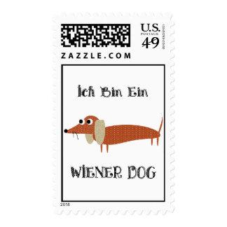 Ich Bin Ein Wiener Dog I Am A Dachshund Postage Stamp