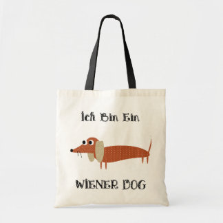 Ich Bin Ein Wiener Dog I Am A Dachshund Tote Bag
