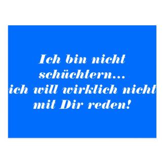 """""""Ich bin nicht schüchtern"""" German FUN Postcard"""