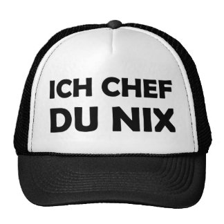 Ich Chef du nix black icon Trucker Hat