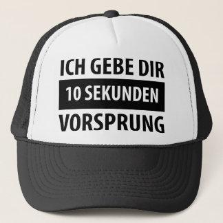 Ich gebe dir 10 Sekunden Vorsprug T-shirt Trucker Hat