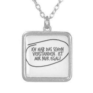 ich hab das schon verstanden ist mir nur egal. square pendant necklace