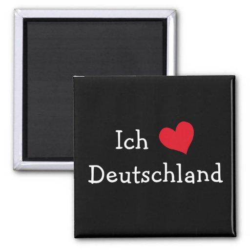 ich liebe deutschland 2 inch square magnet zazzle. Black Bedroom Furniture Sets. Home Design Ideas