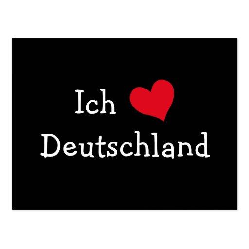 ich liebe deutschland postcard zazzle. Black Bedroom Furniture Sets. Home Design Ideas