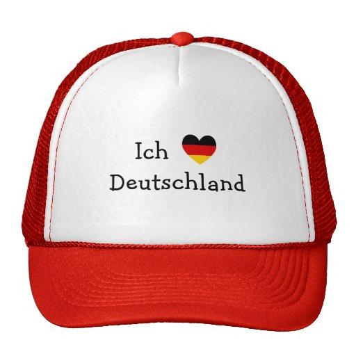 ich liebe deutschland trucker hat zazzle. Black Bedroom Furniture Sets. Home Design Ideas