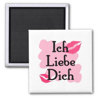 Ich Liebe Dich - alemán te amo Imanes De Nevera