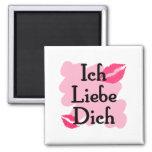 Ich Liebe Dich - alemán te amo Imán Cuadrado