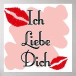 Ich Liebe Dich - alemán te amo Póster