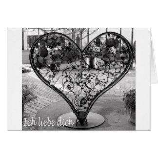 Ich liebe dich card