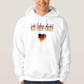 Ich Liebe Dich! German Flag Colors Hooded Pullover