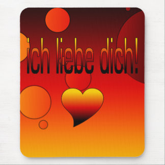 Ich Liebe Dich! German Flag Colors Pop Art Mouse Pad