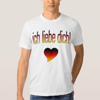 Ich Liebe Dich! German Flag Colors T Shirt