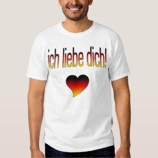 Ich Liebe Dich! German Flag Colors T-shirts