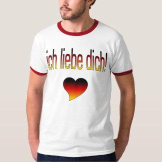 Ich Liebe Dich! German Flag Colors Tee Shirt