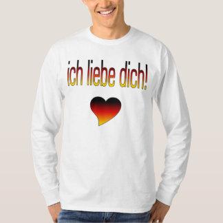 Ich Liebe Dich! German Flag Colors Tee Shirts