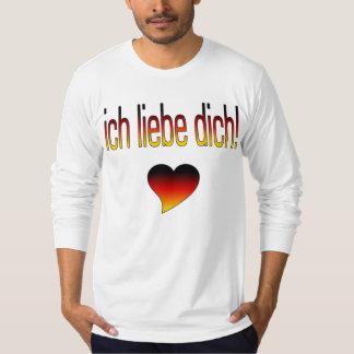 Ich Liebe Dich! German Flag Colors Tshirt