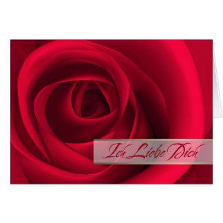 Ich Liebe Dich. German Valentine's Day Card
