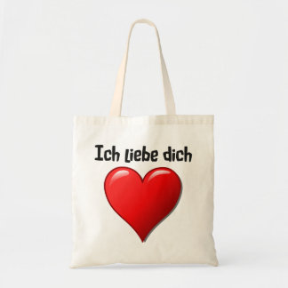 Ich liebe dich - I love you in German Canvas Bags