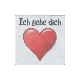 Ich liebe dich - I love you in German Stone Magnet