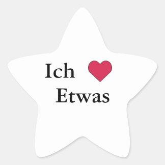 Ich Liebe (Etwas) Star Stickers