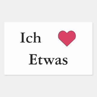 Ich Liebe (Etwas) Stickers