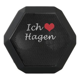 Ich liebe  Hagen  ,I love Hagen Black Bluetooth Speaker