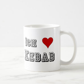 Ich Liebe Kebab I love kebab Deutsche German Coffee Mug