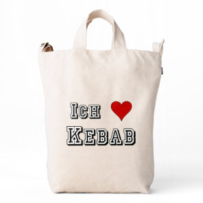 Ich Liebe Kebab I love kebab Deutsche German Duck Bag