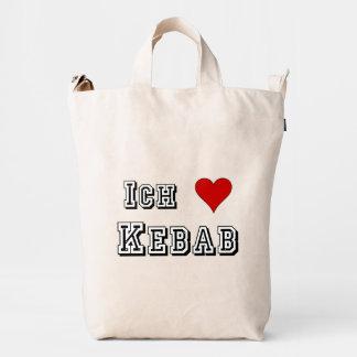 Ich Liebe Kebab I love kebab Deutsche German Duck Canvas Bag