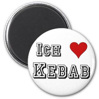 Ich Liebe Kebab I love kebab Deutsche German Magnet
