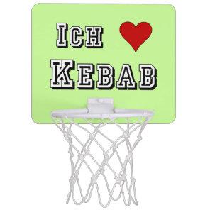 Ich Liebe Kebab I love kebab Deutsche German Mini Basketball Hoop