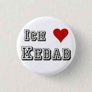 Ich Liebe Kebab I love kebab Deutsche German Pinback Button