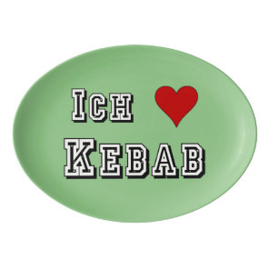 Ich Liebe Kebab I love kebab Deutsche German Porcelain Serving Platter